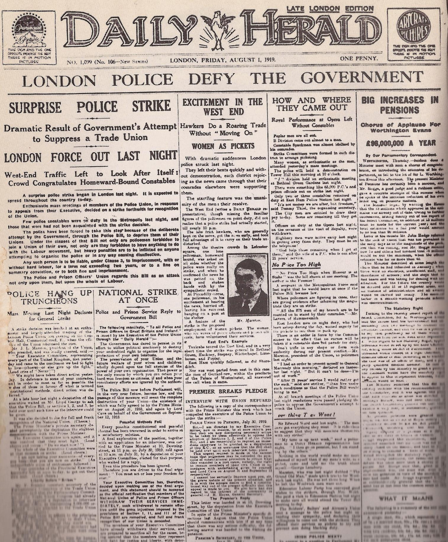 1919 paper herald