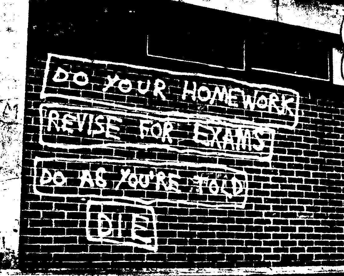 do your homework graffiti