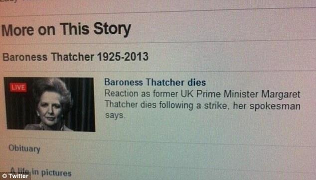 Thatcher dies