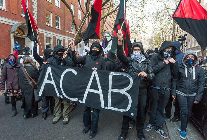ACAB protestors
