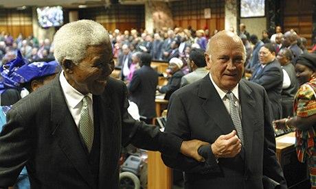 Nelson Mandela FW de Klerk