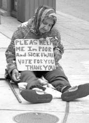woman offering to vote for you