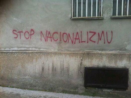 sarajevo graffiti stop  nationalism