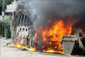 rio 30 6 14 Bus Torched - Brazil - 2