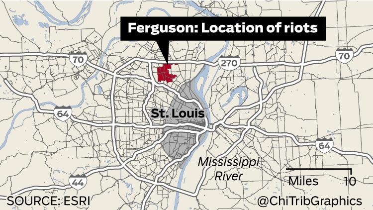 riots-near-st-louis-ferguson-map-20140811