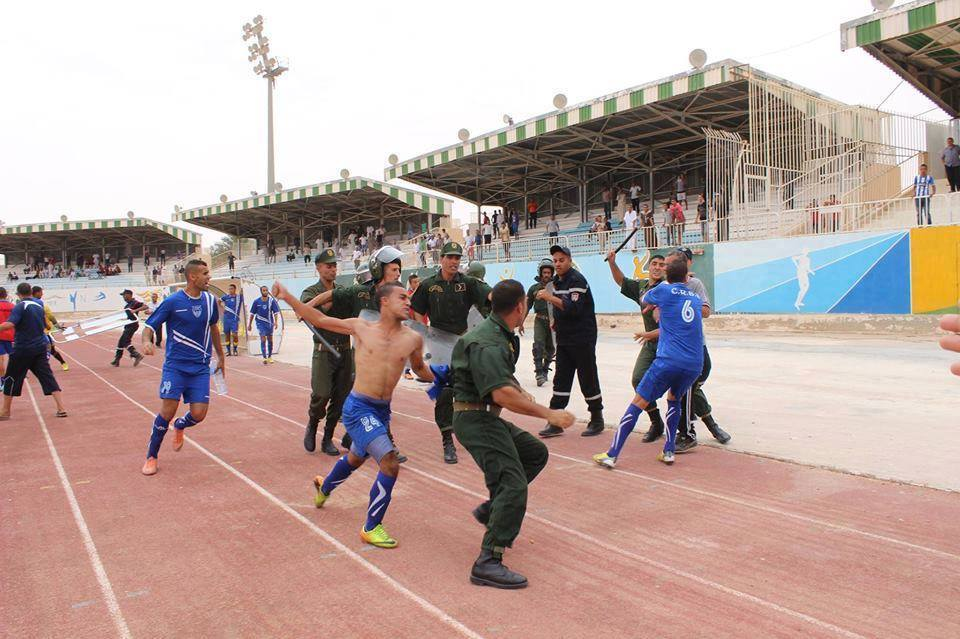 Algeria gendarmes attacked football