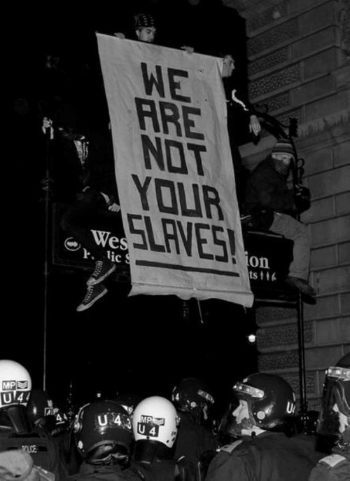 we are not your slaves