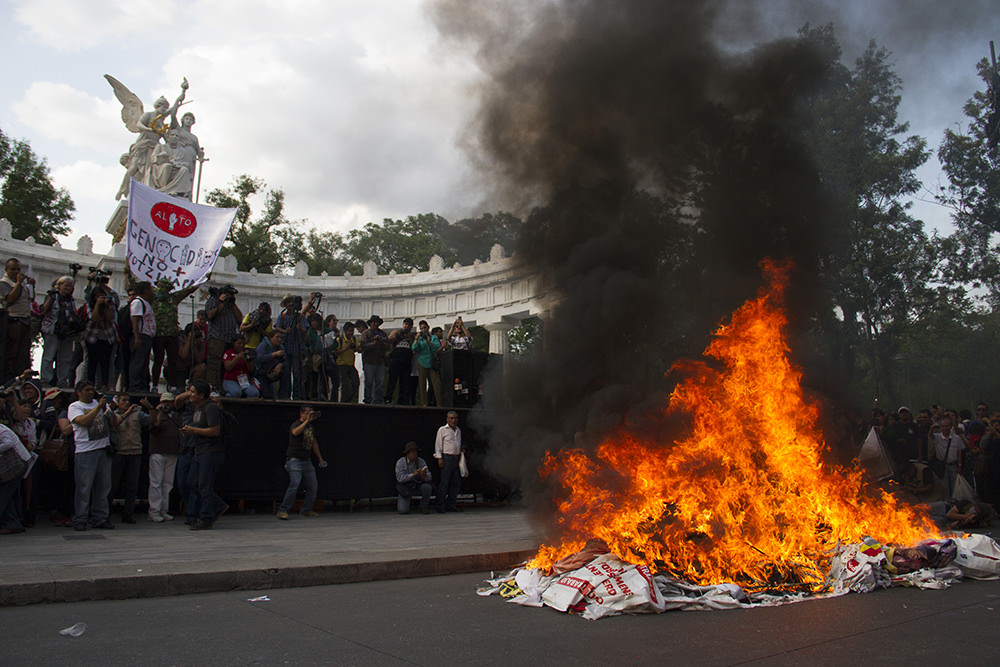 mexico burning papers