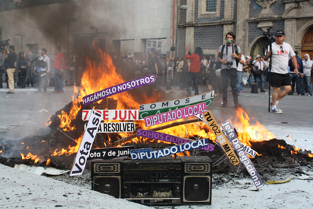 mexico image of burning media