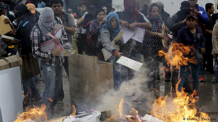 ballot boxes burn