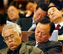 sleeping audience