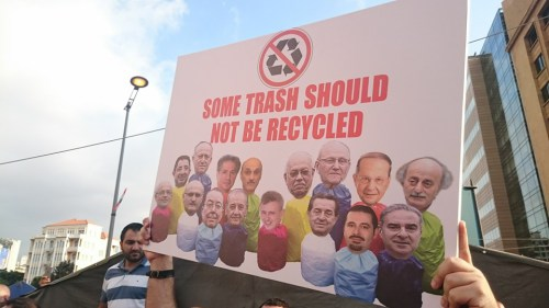 lebanon trash not to be recycled