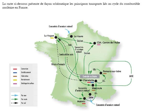 france map nuke transportation