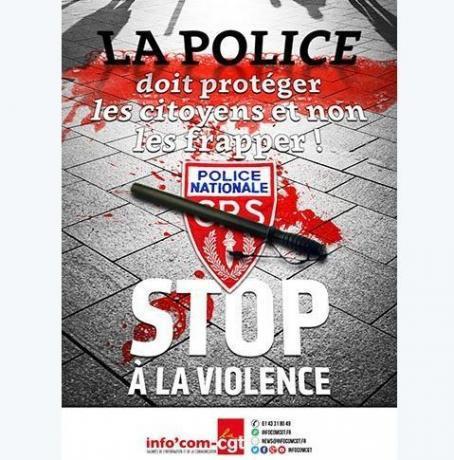 CGT police doit proteger pas frapper
