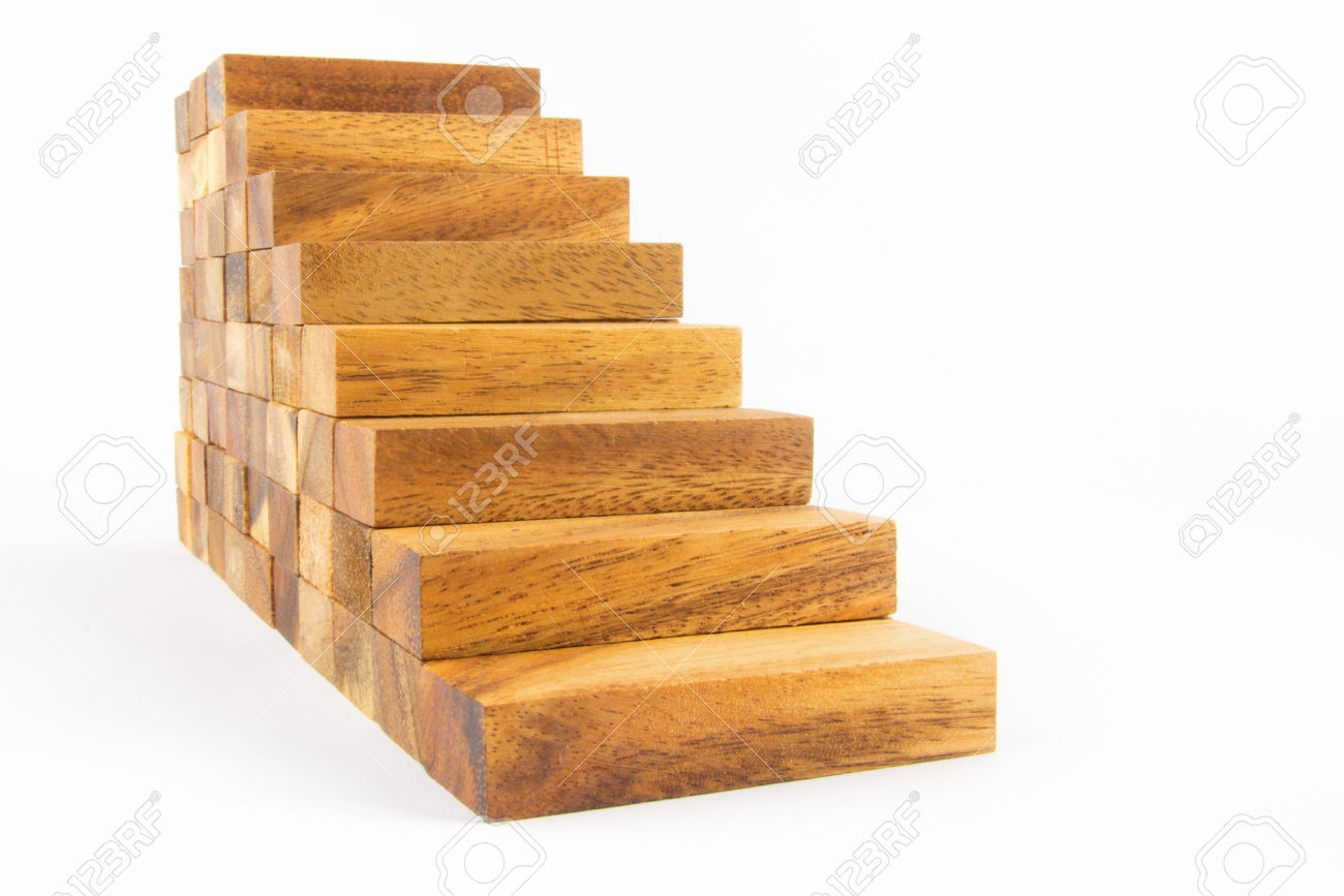 Wooden-staircase-construction-isolated-on-white-background-Stock-Photo