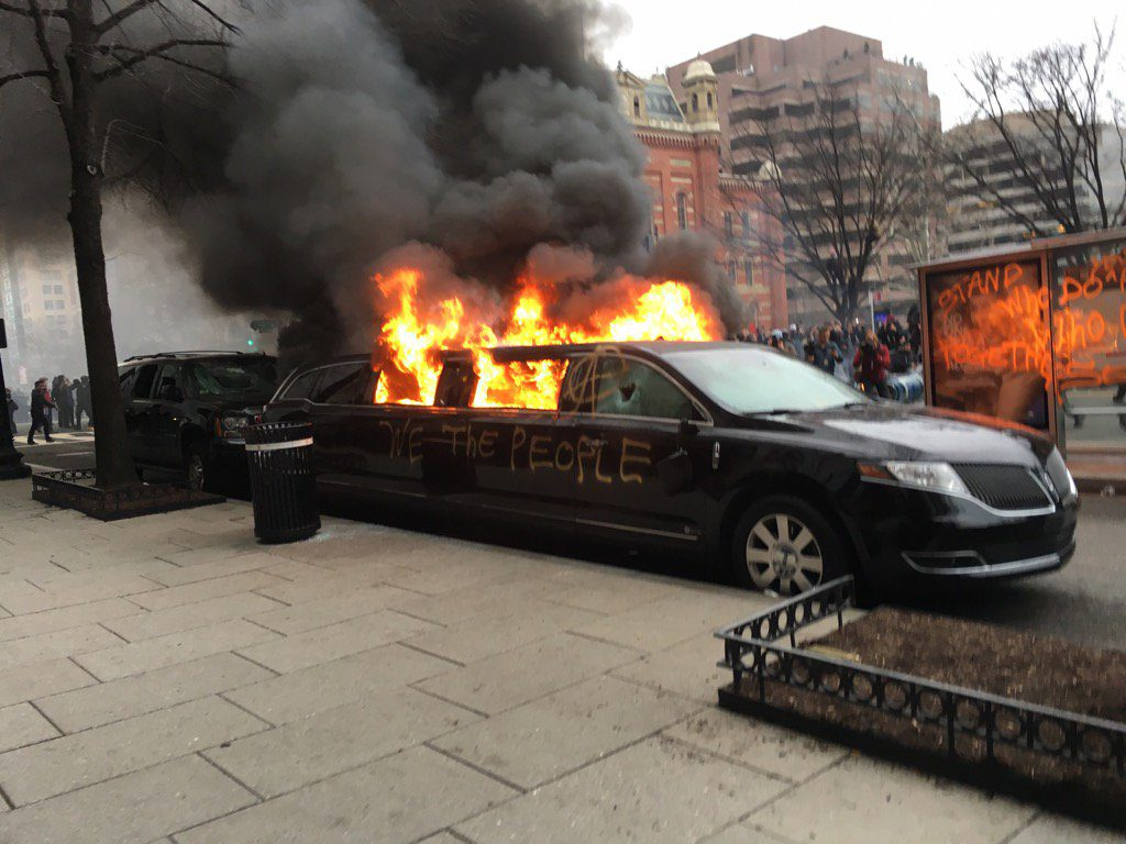 washington limo burning 20 1 17