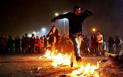 fire festival iran
