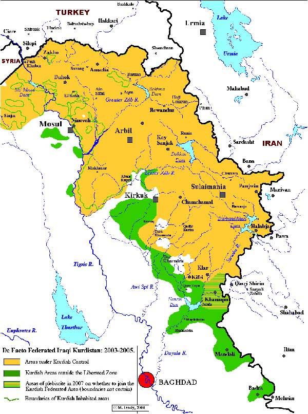 Explore Iraqi Kurdistan Map History and News The Kurdish Project